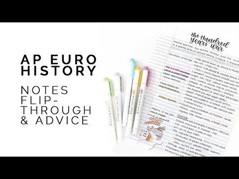 AP European History Advice & Notes Flipthrough