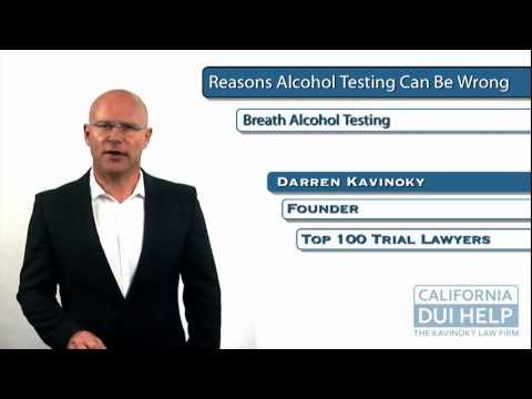 California DUI Defense: Reasons Why Breath Alcohol Tests Can Be Wrong
