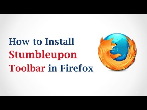 How to Install Stumble Upon toolbar in Mozilla Firefox