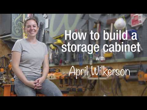 How to make a paint storage cabinet with April Wilkerson