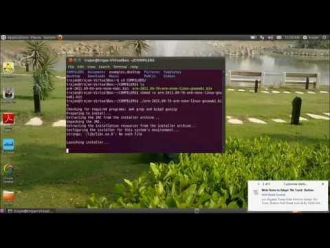 Install cross compiler ( codesourcery).wmv