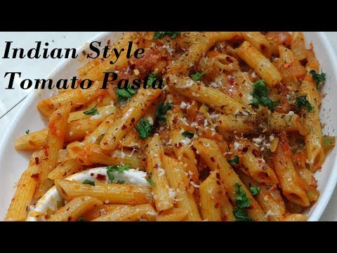 Tomato Pasta Recipe in Indian Style -Instant Indian Pasta Snack Recipe - Kids favourite