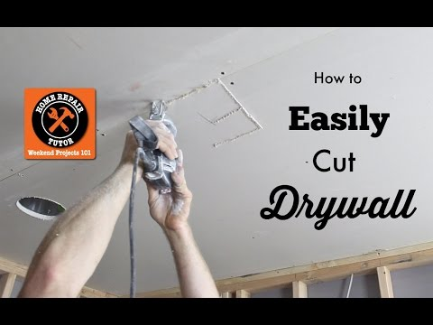 How to Cut Drywall (Cutting Out Electrical Outlets and Devices) -- by Home Repair Tutor
