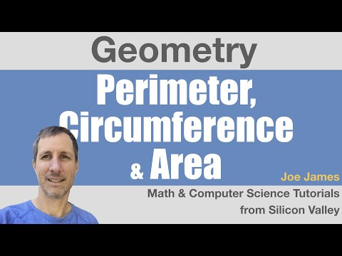 Geometry: Perimeter Circumference Area of Polygons and Circles
