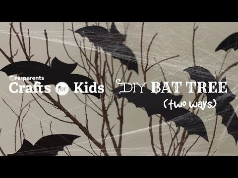 Easy Bat Trees | Halloween Crafts for Kids | PBS Parents