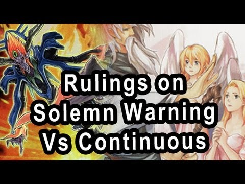 Rulings on Solemn Vs Continuous Spell/Traps