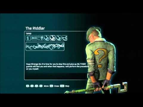 Batman: Arkham City - Interviews: The Riddler