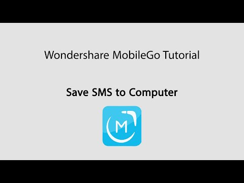 MobileGo: Back up and Save SMS/Text Messages on Android Phones to Computer