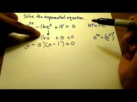 Solve Exponential Equation (Quadratic)