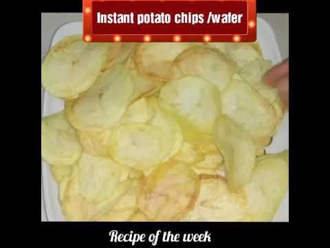 Instant potato chips/ wafer/ homemade potato chips/fast recipe/ઘરે ફટાફટ બનાવો ઇન્સટન્ટ વેફર