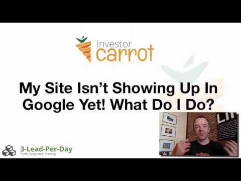 Why is my website not showing up in Google? - InvestorCarrot