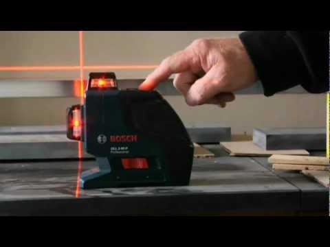 Bosch GLL2-80P Dual Plane Leveling and Alignment Laser Demo Video