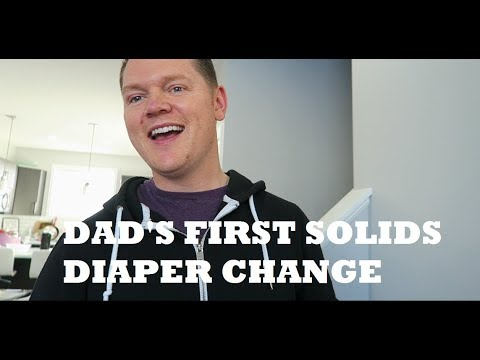 DAD'S FIRST SOLIDS DIAPER CHANGE + FREEZING BREAST MILK