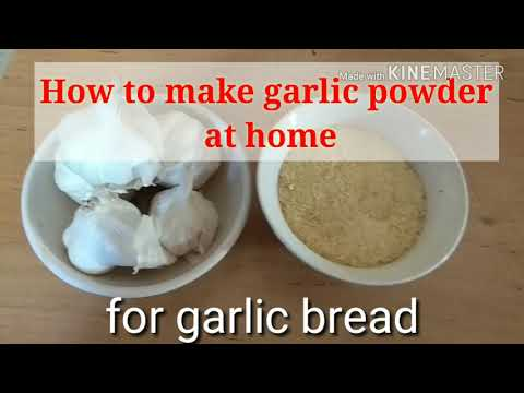 Homemade Garlic Powder: How to make garlic powder at home easily