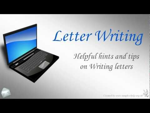Letter Writing - Fast help with writing a letter!