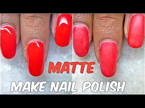 How to Make Nail Polish Matte at Home