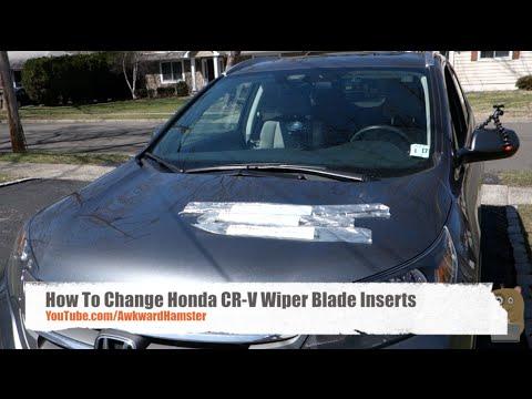 How To Change Honda CR-V Wiper Blade Inserts