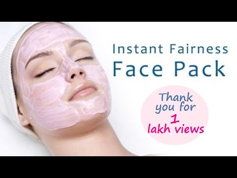 Instant Fairness Face Packs at Home Naturally
