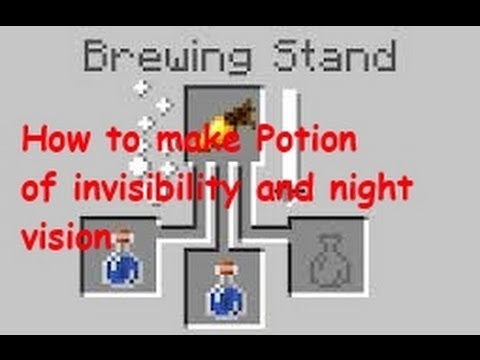 Minecraft 1.10.2 How to make potion of invisibility and night vision