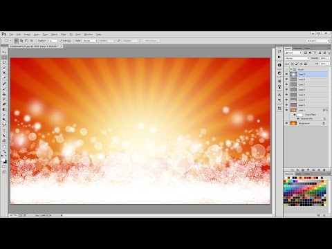 How to Design a Beautiful Christmas Background in - Photoshop Tutorial