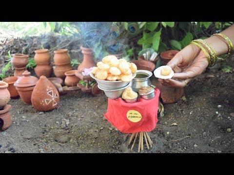Miniature Food 07: Pani puri recipe // Golgappa pani with Teekha Pani, Sweet Chutney and Stuffing