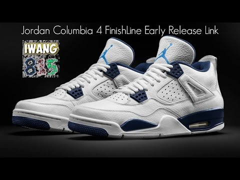 Jordan Columbia 4 Early Link! Jordan 4 Columbia FinishLine (Finish Line) Early Release Link!