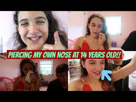 Piercing my Own Nose at 14 Years Old!! *NOT CLICKBAIT* | Zoe Rebekah