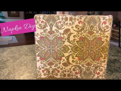 Napkin Transfer Onto Wood DIY Easy | Napkin Picture DIY