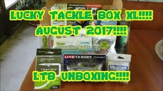 LUCKY TACKLE BOX XL AUGUST 2017!!!! LTB UNBOXING!!! BIG BASS BAITS
