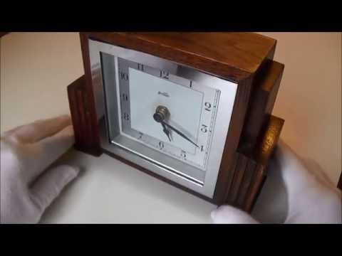 TGV's Restoration Of An Antique British 1930s Art Deco Bentima Mantel Clock