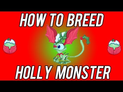 Holly/Gift First Try NEW combination! Better chances to breed! Tiny monsters