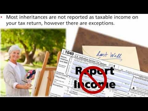 Is my inheritance taxable income?
