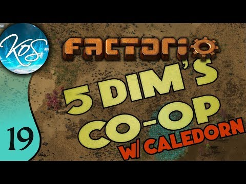 Factorio 5Dim's Co-op Ep 19: SMOKED SOCKS - MP with Caledorn, Let's Play, Gameplay