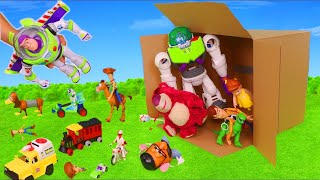 Toy Story 4 Surprise Toys: Buzz Lightyear, Forky \u0026 Woody Toy Vehicles for Kids