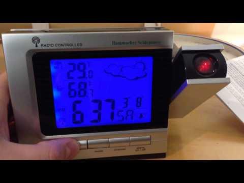 Hammacher Schlemmer Projection Clock Time Zone