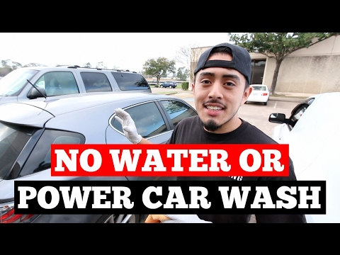 How to wash a car with NO power or water source with VERY BASIC tools & products!