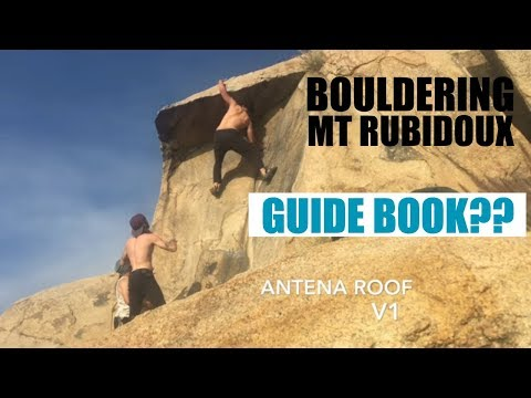 Bouldering at Mt Rubidoux and 2018 Rubidoux Guidebook Preview by Nicholas Rondilone
