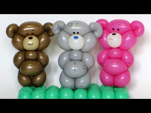 Плюшевый мишка из шарика / One balloon Teddy bear (Subtitles)
