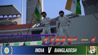 India vs Bangladesh Day 1 - 1st Test Match Prediction Highlights Cricket 19 Hard