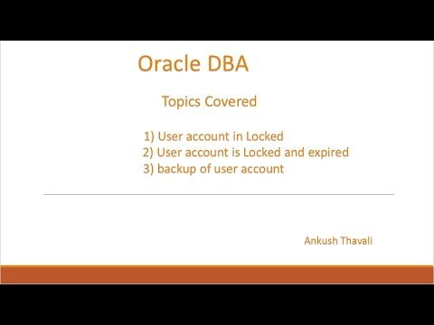 Oracle User account is Locked/Expired & Backup of user account password