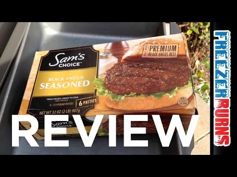 Sam's Choice Black Angus Seasoned Frozen Hamburgers Video Review: Freezerburns (Ep680)