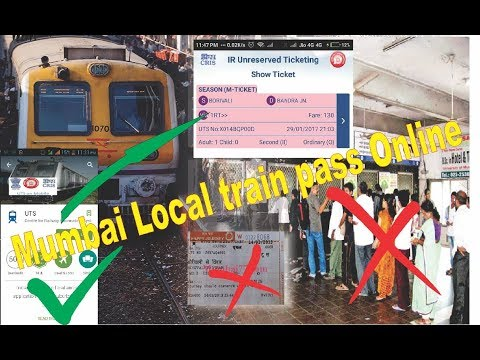 how to book mumbai local train ticket online ( UTS App )