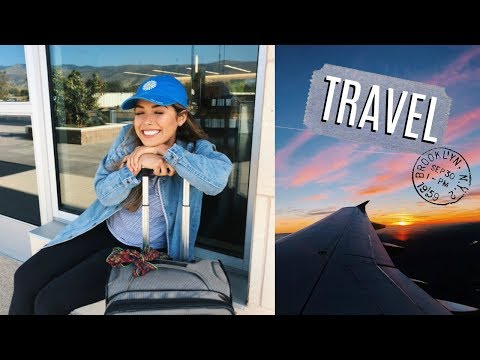 Airplane/Travel Makeup, Hair, and Go-to Outfit! | ItsMandarin