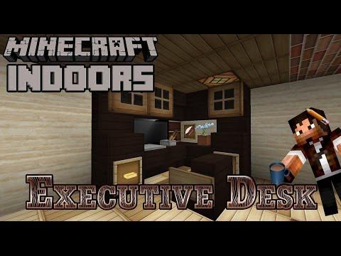 Executive Desk - Minecraft Indoors (Office Desk Tutorial)