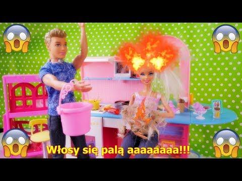 Wypadek Barbie SPALIŁA sobie włosy na randce z Kenem 🔥🔥🔥 - Bajka po polsku z lalkami odc.5