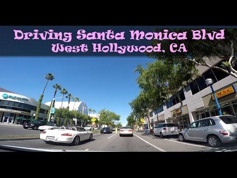 Driving Santa Monica Blvd, West Hollywood CA