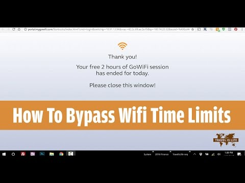 How To Bypass Wifi Time Limits in Coffee Shops & Public Hotspots