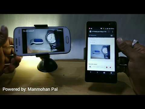 Wireless CCTV camera Using IP Webcam (Hindi)