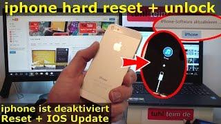 Iphone Hard Reset Deutsch Deaktiviertes Iphone Ohne Sim Zurucksetzen