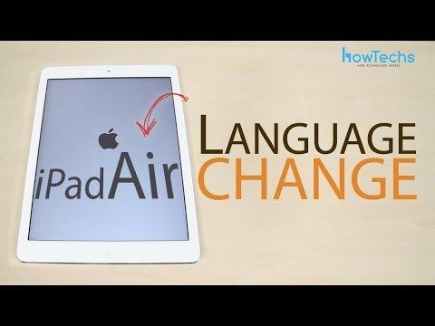 Apple iPad Air Language change